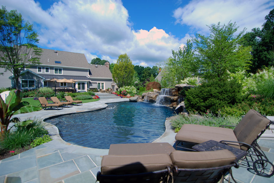 landscaping ideas for inground swimming pools nj natural swimming pools raised spa inground pool designs 7. Interior Design Ideas. Home Design Ideas