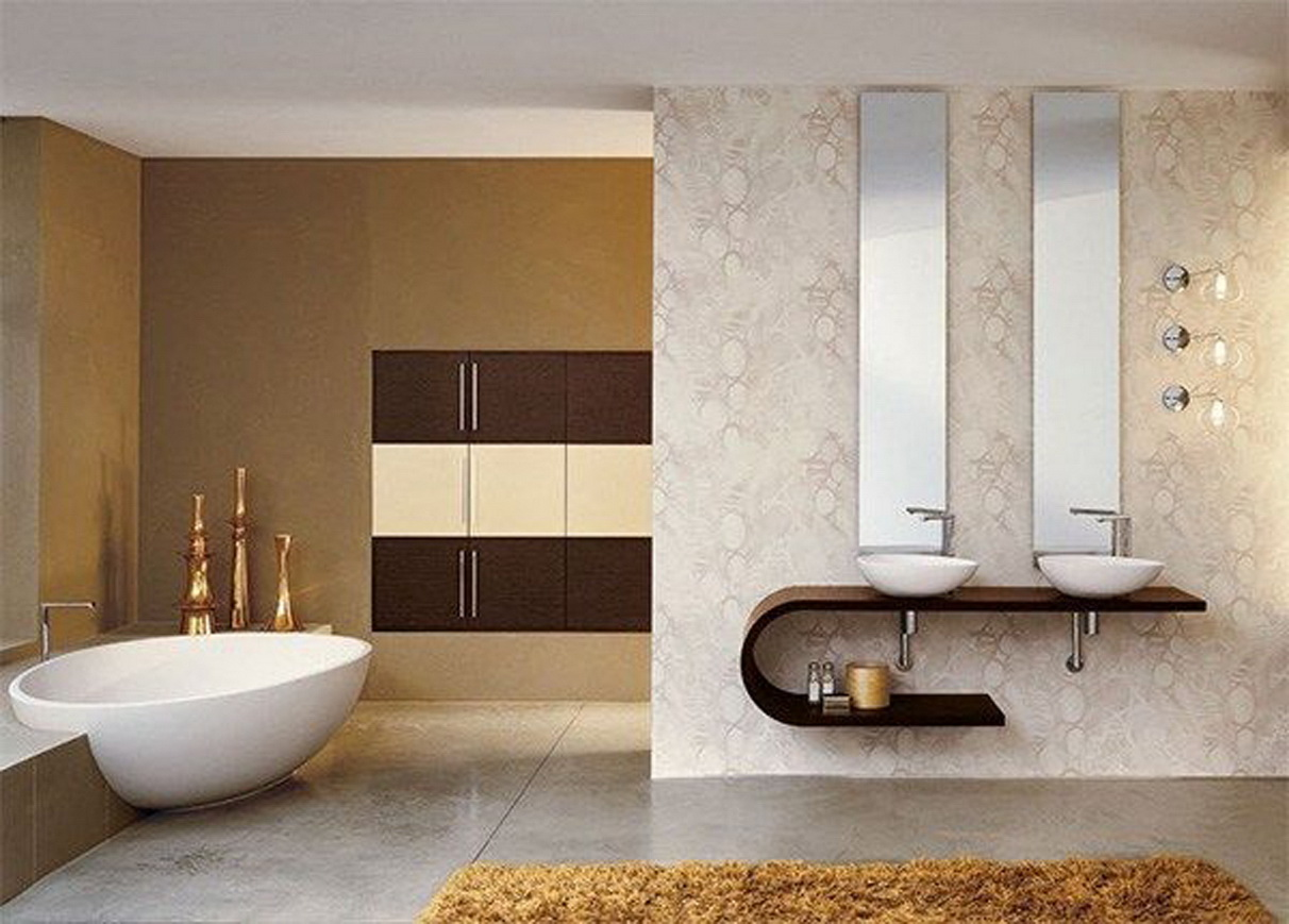 Modern mirrors for bathrooms