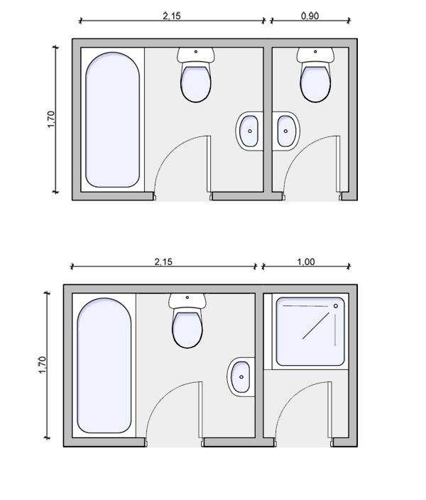 Typical bathroom layout