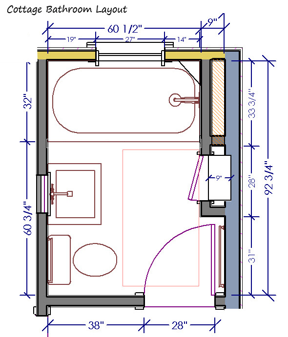 Bathroom layout planner Photo - 1