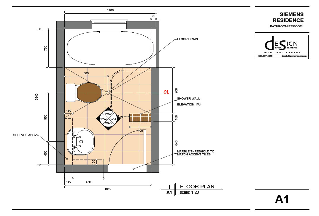 Bathroom remodel plans