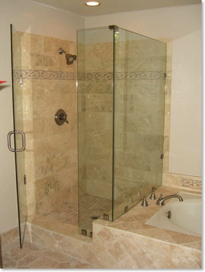 Bathroom remodel ideas walk in shower large and for Bathtub and shower designs