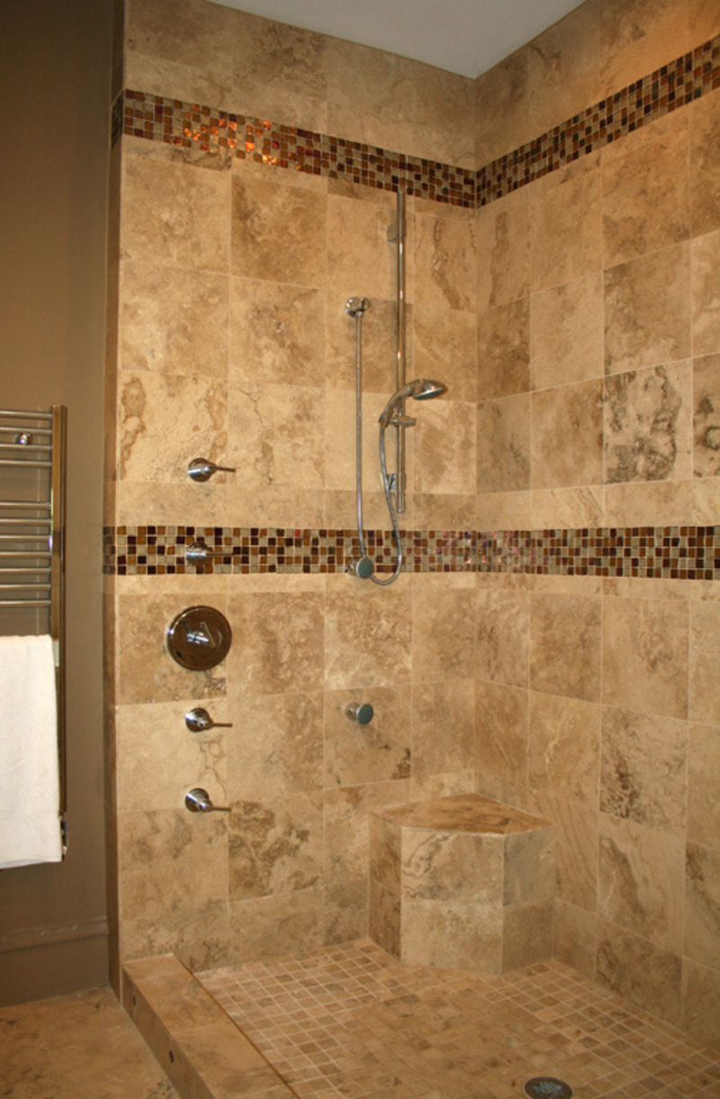 Small bathroom shower tile ideas large and beautiful for Travertine tile in bathroom ideas