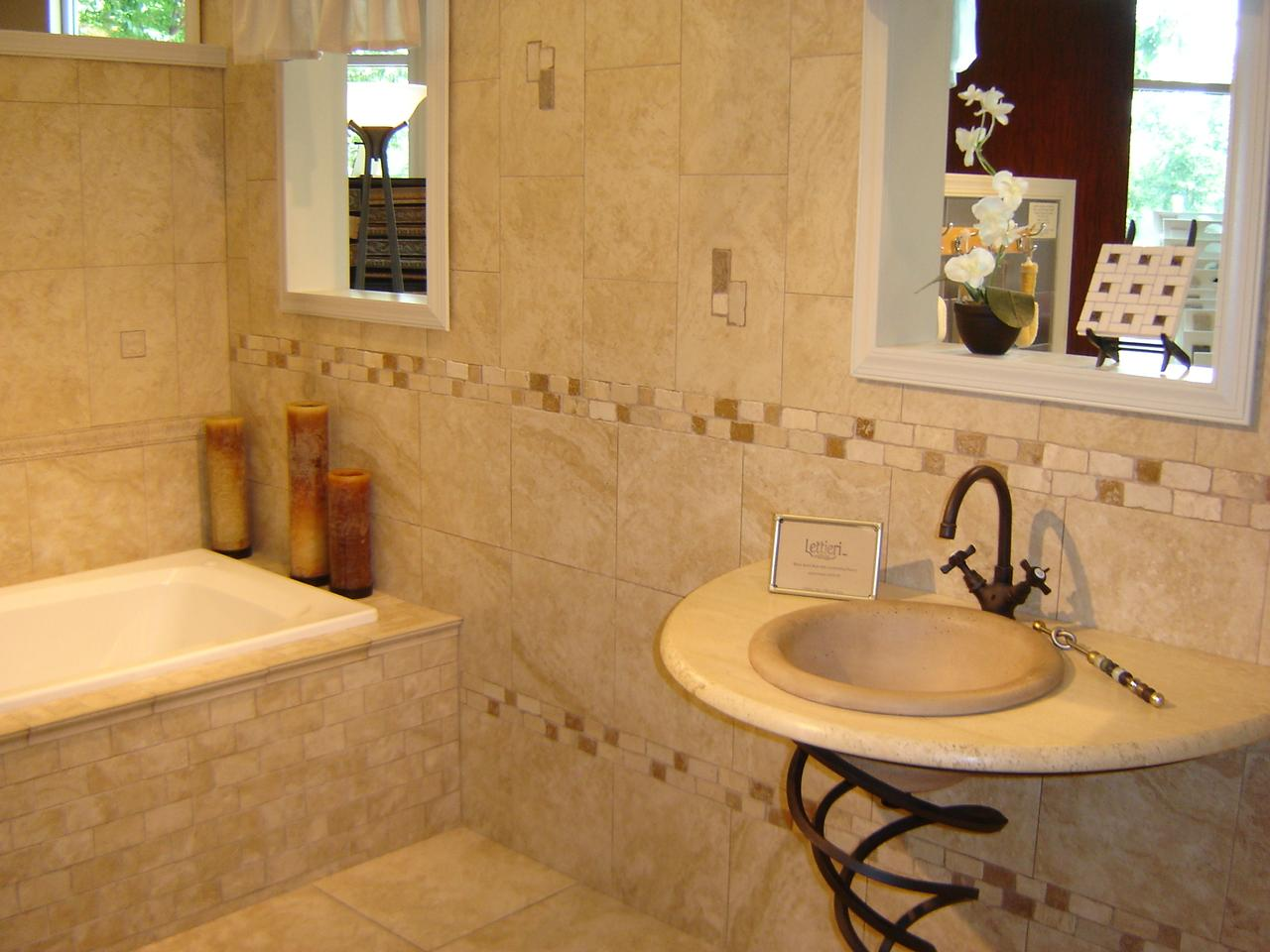 ceramic tile bathroom designs - large and beautiful photos. photo