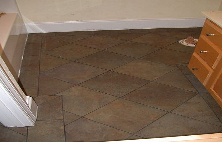 Bathroom tile floor designs