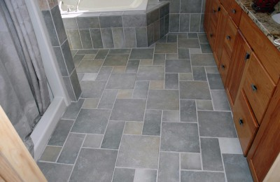 Bathroom tile floors