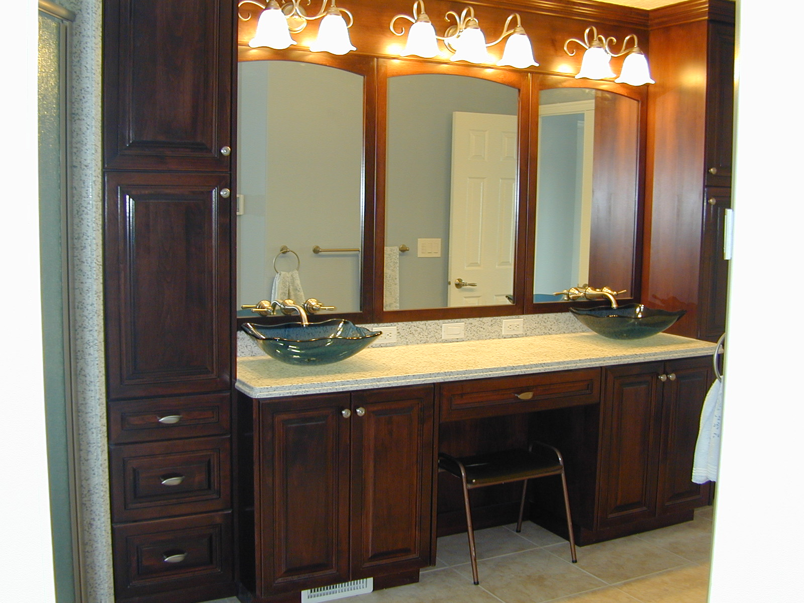 Bathroom Vanities With Makeup Area Style Guru Fashion Glitz Glamour Style Unplugged