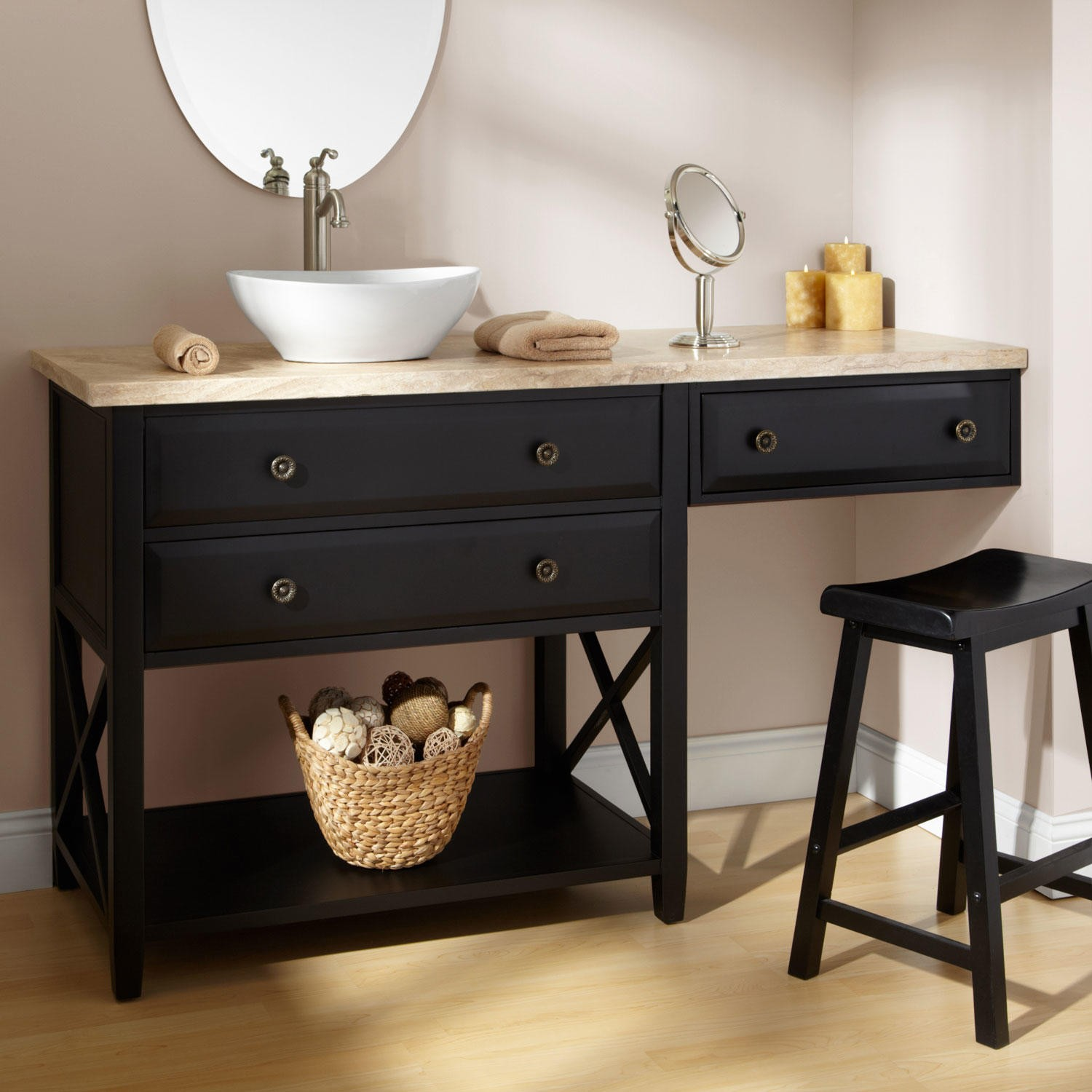 Bathroom Vanity With Makeup Area Large And Beautiful Photos Photo To Select Bathroom Vanity