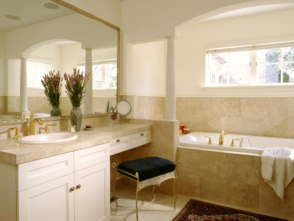 Etonnant Bathroom Vanity With Makeup Area Photo   5