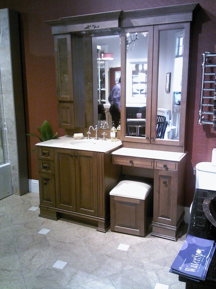 Bathroom Vanity With Makeup Area Photo 6 Design Your Home