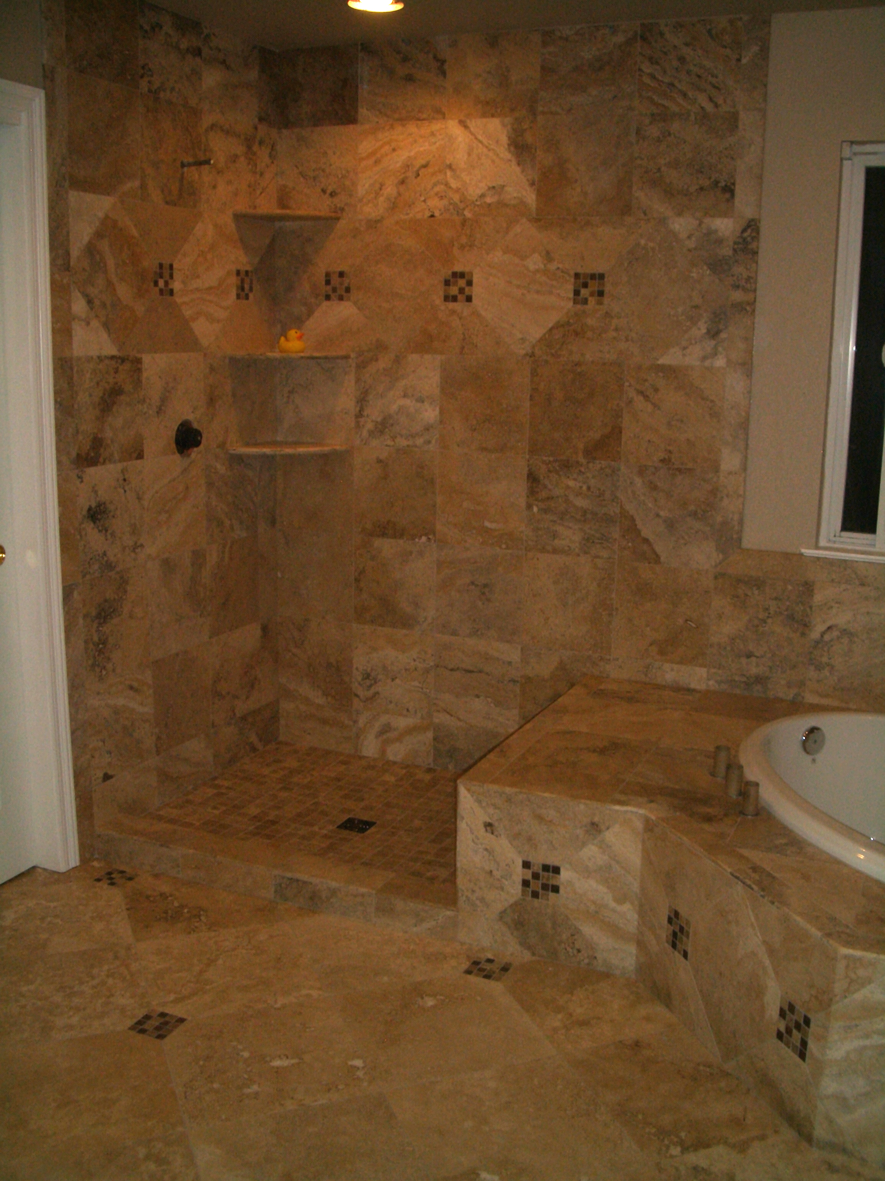 Images of tiled bathrooms