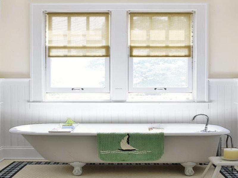 Window treatments for bathroom