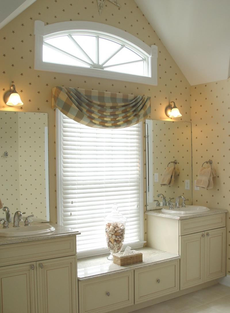 Bathroom window coverings large and beautiful photos for Bathroom window curtains