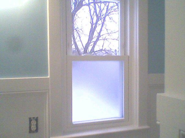 Bathroom window privacy Photo - 1