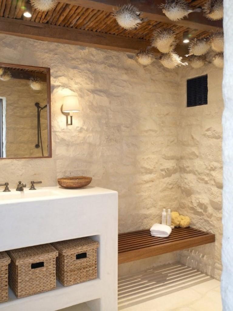 Дизайн ванной с декорами