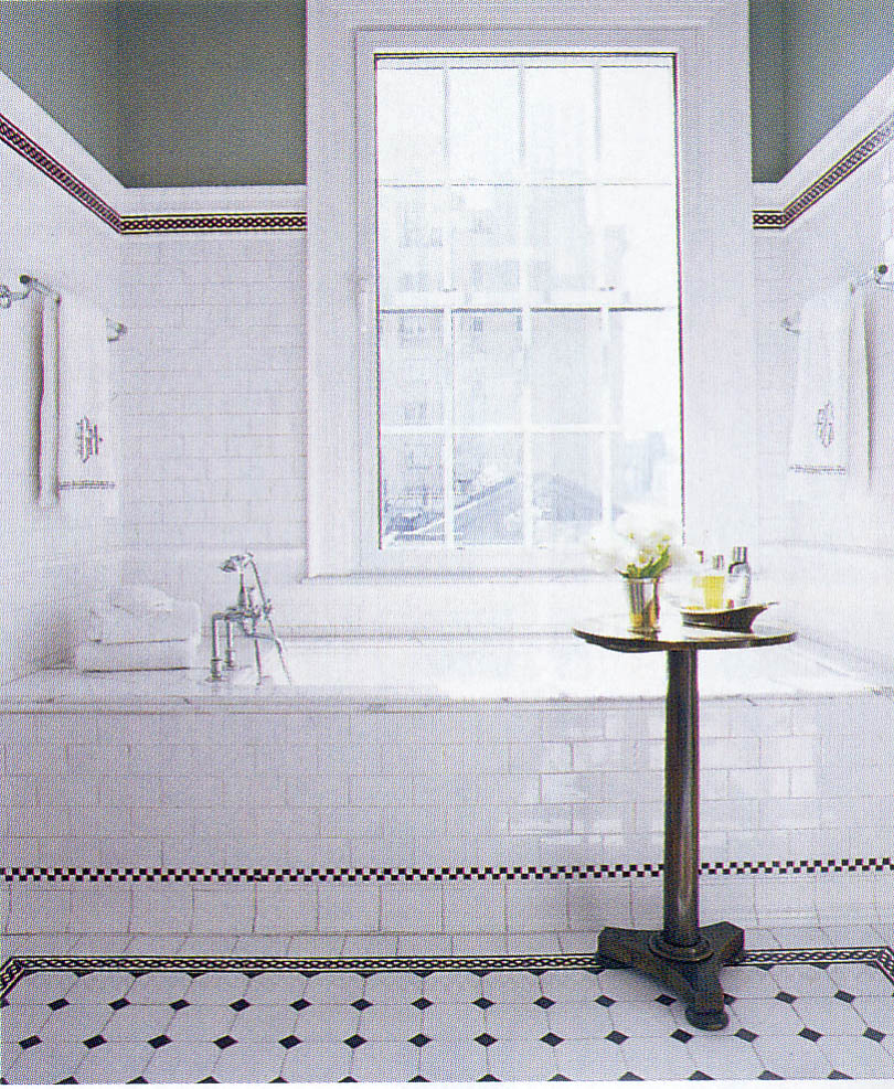 Black And White Tile Bathroom ... Part 96