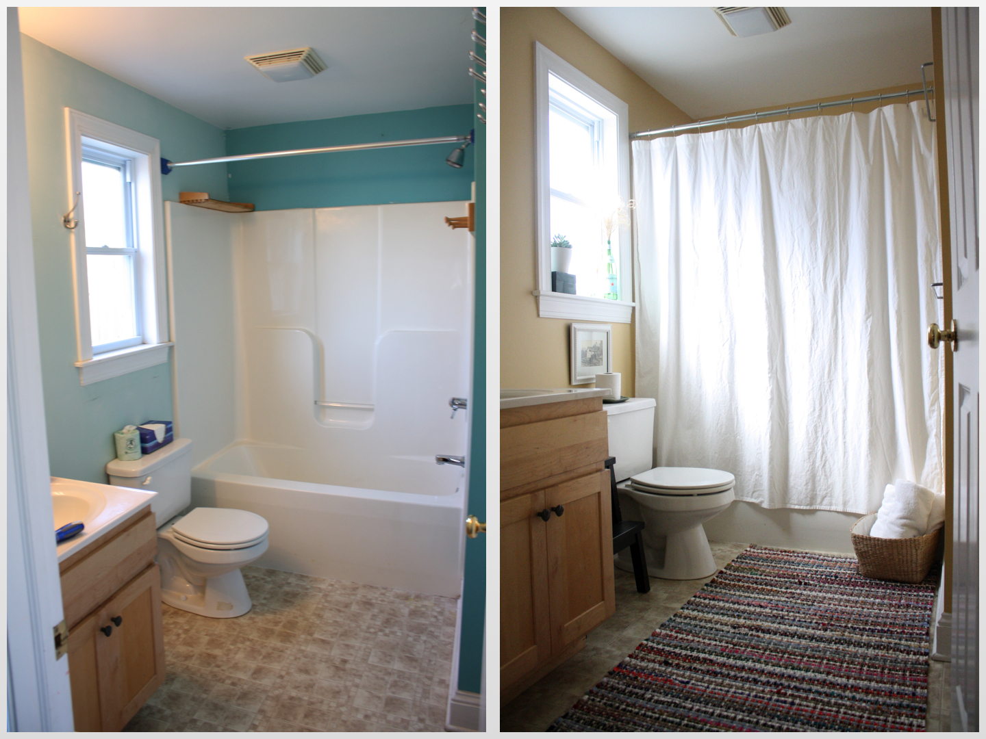 Bathroom Makeovers On The Cheap cheap bathroom makeover photo - 11 | design your home