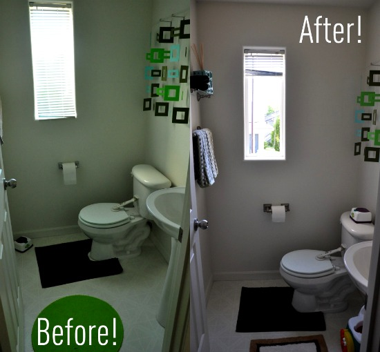 Endearing 20 bathroom makeovers on the cheap decorating for Cheap bathroom pictures