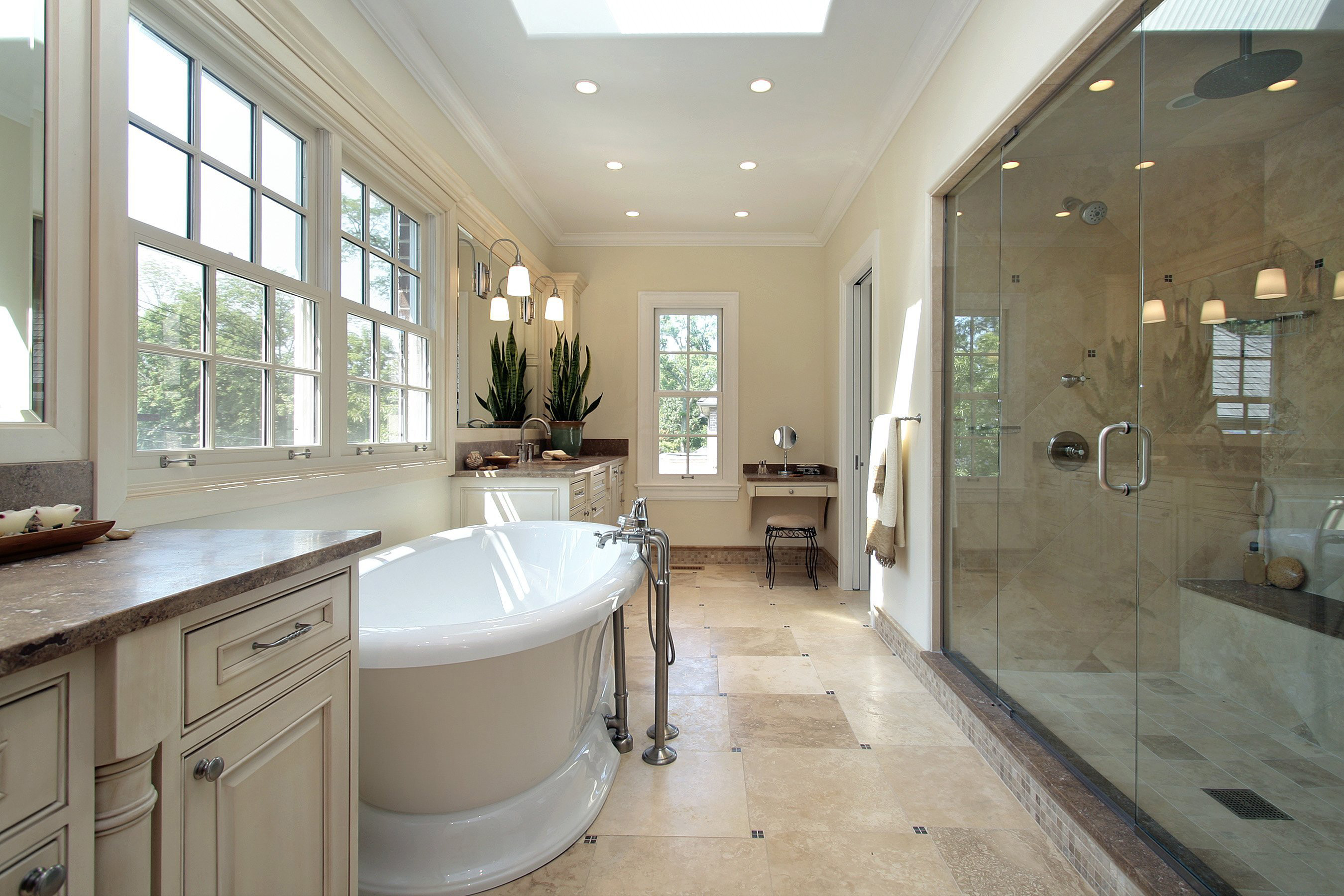 How much does it cost to remodel a bathroom large and beautiful