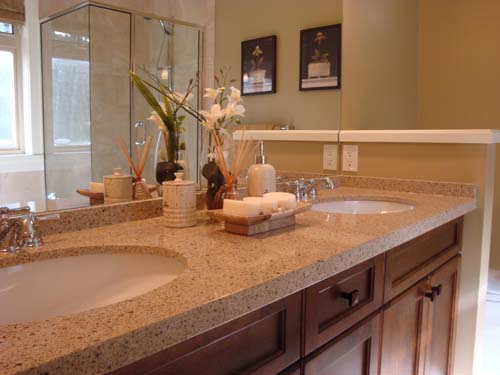 Countertop for bathroom large and beautiful photos for Countertop decor ideas