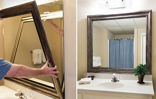 Diy Frame Bathroom Mirror Photo   4