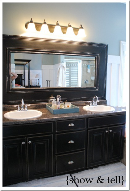 Framing mirrors in bathroom