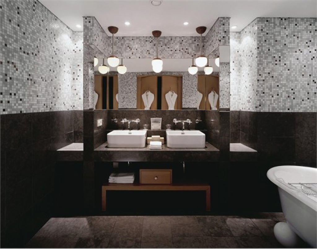 Glass tile bathroom ideaslarge and beautiful photos Photo to
