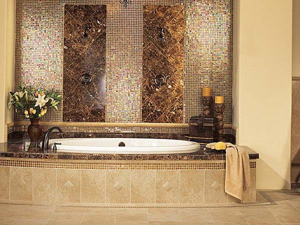 bathroom tile design ideas glass tile bathroom ideas - Tile Bathroom Designs