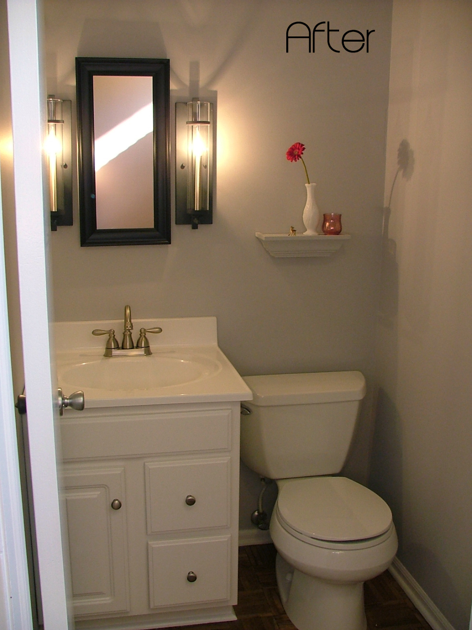 Half bathroom remodel photo 5 design your home for Redesign bathroom ideas