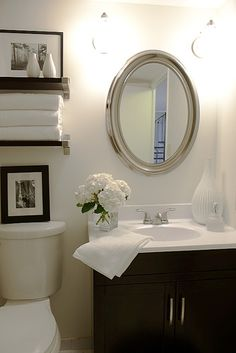 Half Bathroom Remodel Photo 7. Small Vintage Retro Bathroom Decorating ...