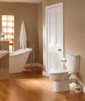 Bathroom hardwood flooring design