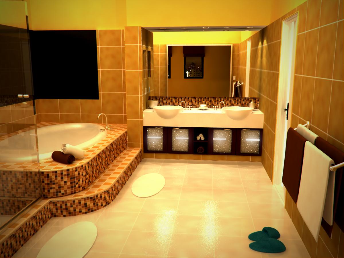 Красивая ванная комната в квартире дизайн фото