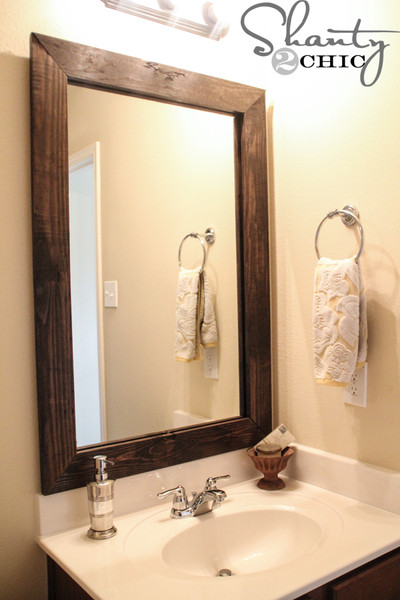 How to frame a bathroom mirror Photo - 1