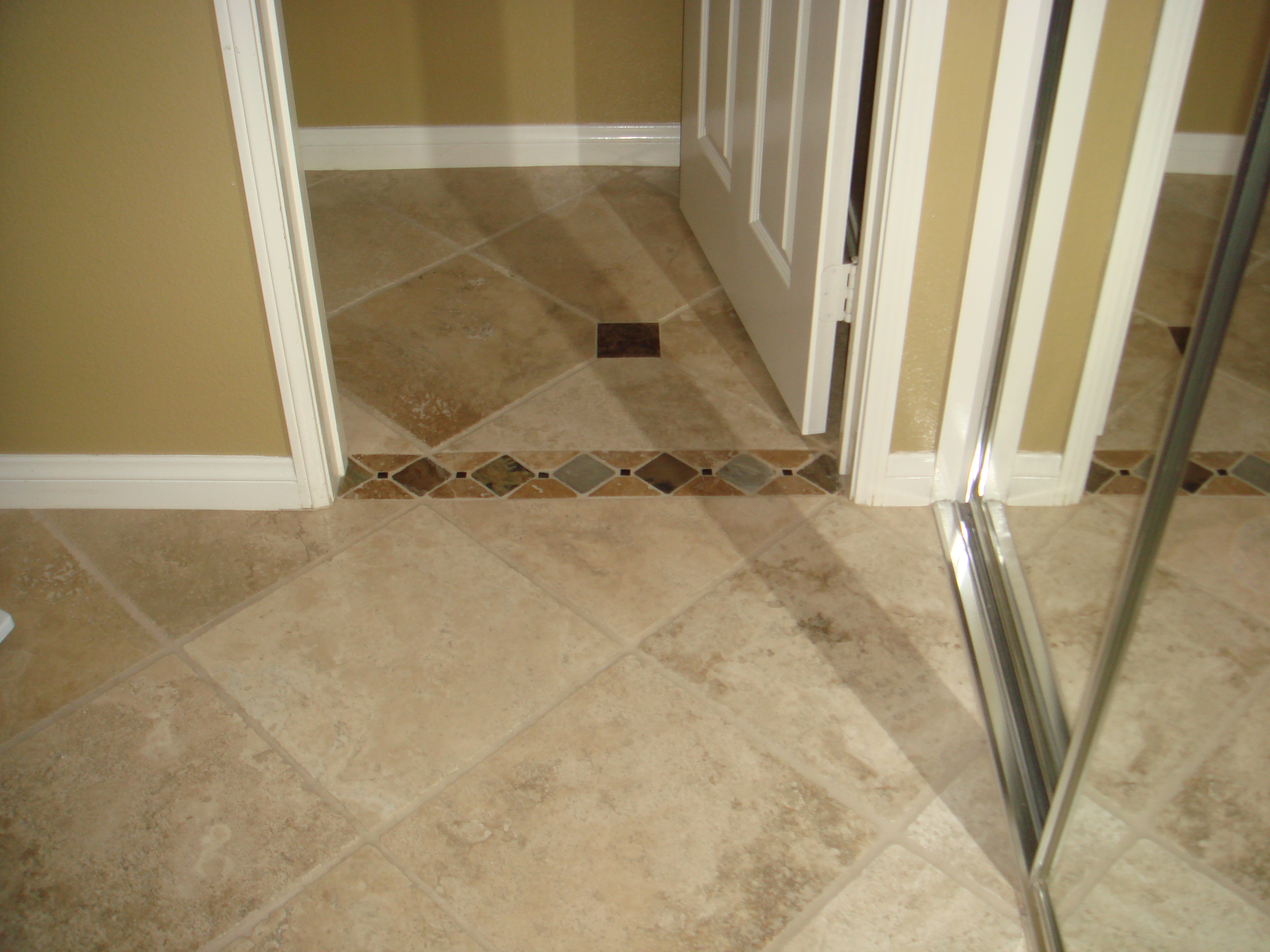 Installing bathroom tile