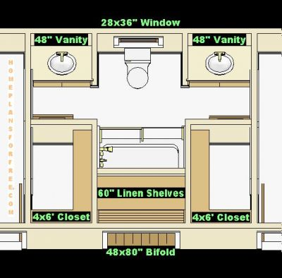 Jack And Jill Bathroom Floor Plans Large And Beautiful
