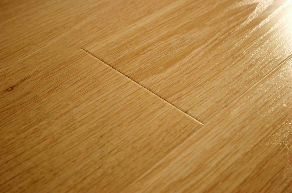 Laminate flooring in a bathroom