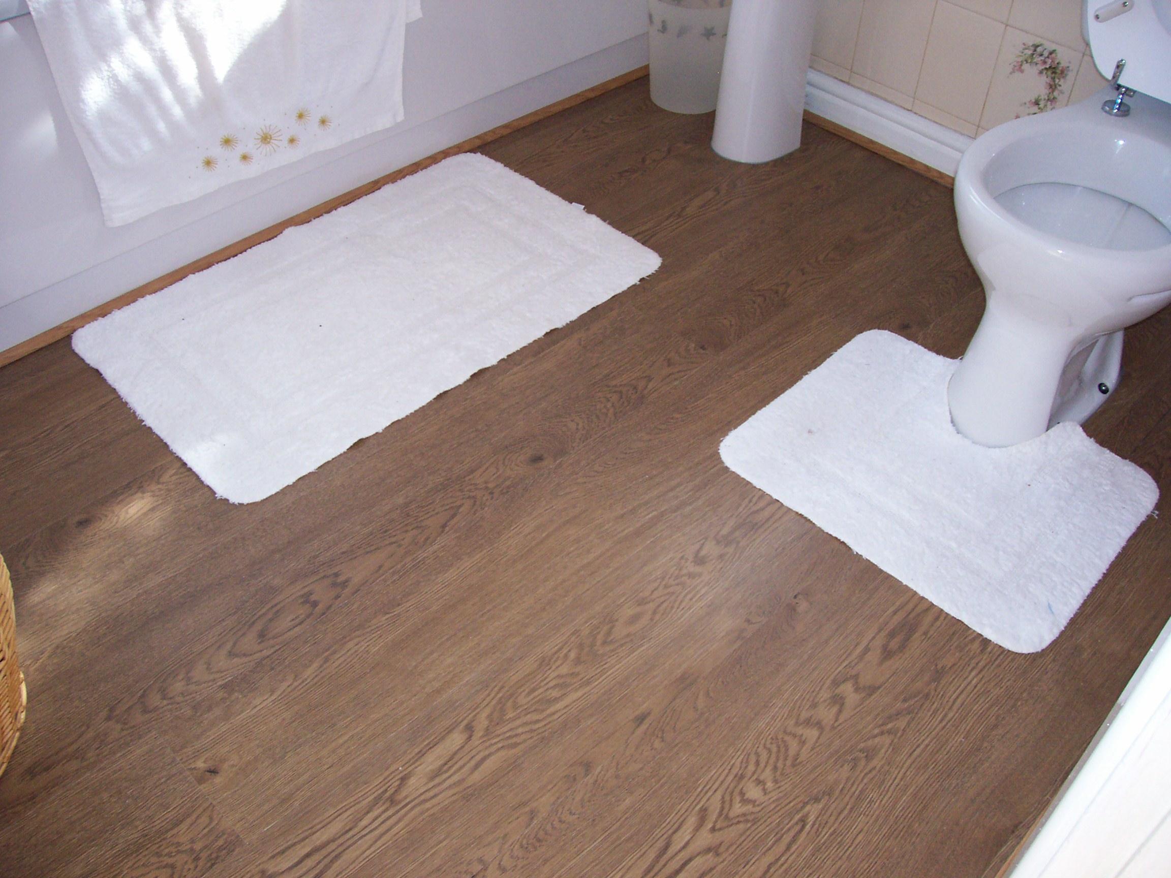 Laminate floors in bathroom