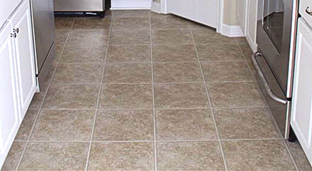 Linoleum flooring bathroom