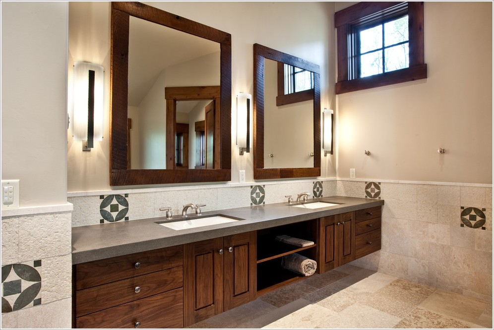 Mirrored Bathroom Vanity Photo