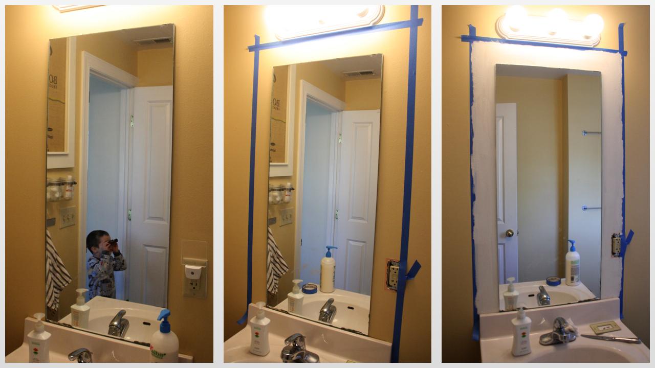 Framed mirrors bathroom