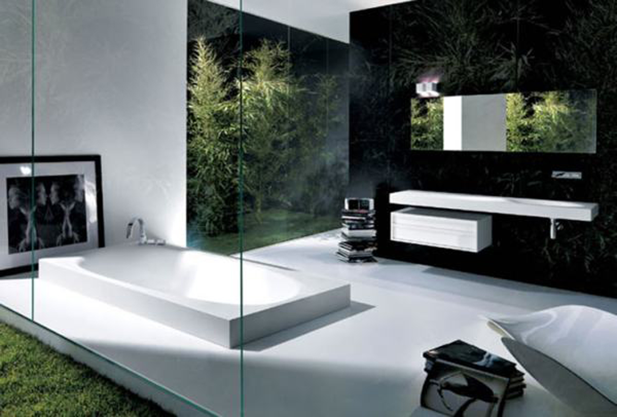 Modern bathroom decorations - Modern Bathroom Tile Modern Bathroom Mirror