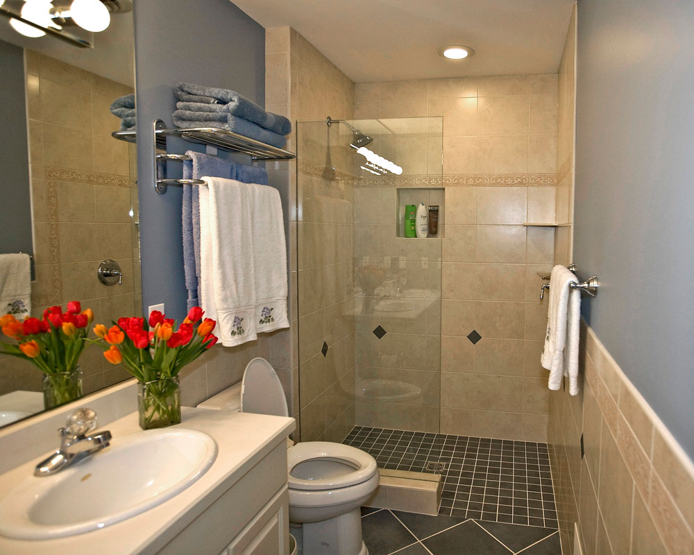 Small bathroom shower tile ideas large and beautiful for Bathroom remodel photos
