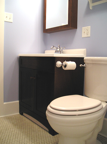 Small bathroom design ideas on a budget large and for Small half bathroom ideas on a budget