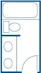 Small bathroom layouts Photo - 1