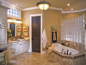 Small master bathroom