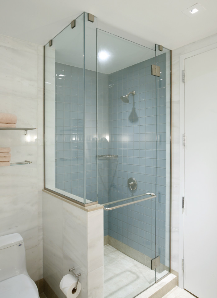 Small showers for small bathrooms large and beautiful for Beautiful bathroom designs for small spaces