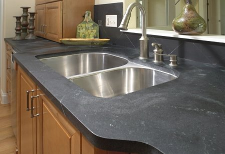 Soapstone bathroom countertop