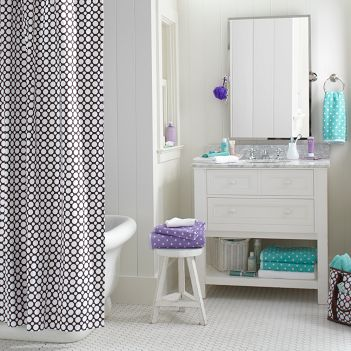 Bathroom:Charming Teen Bathroom With Stone Wall And Staircase To The  Bathtub Area Also Mini