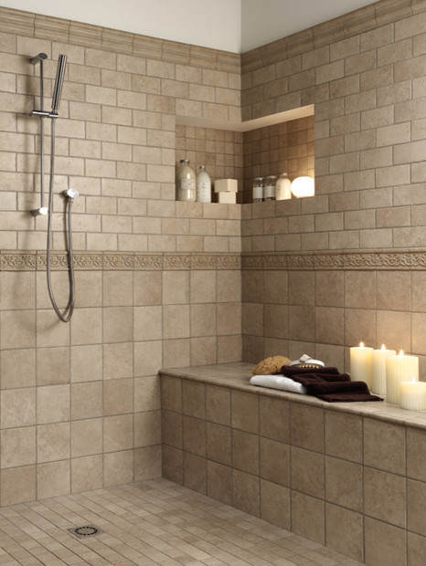 Tile for bathrooms