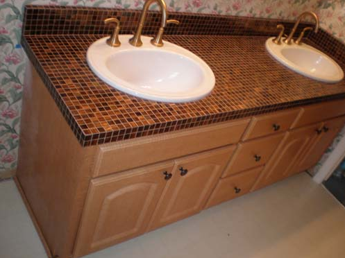 Tiled Bathroom Countertops Photo   12